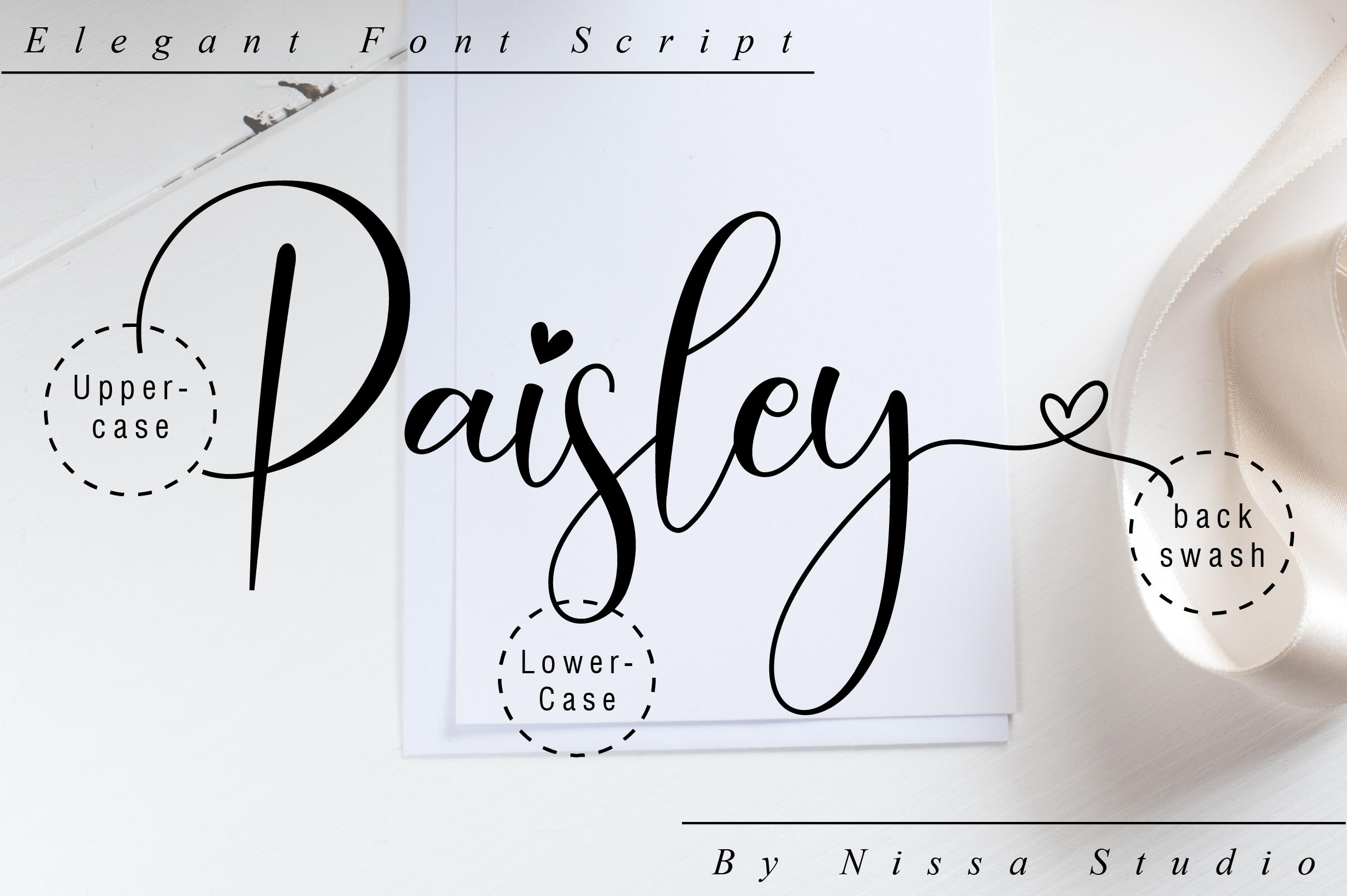 Paisley Script example image 10