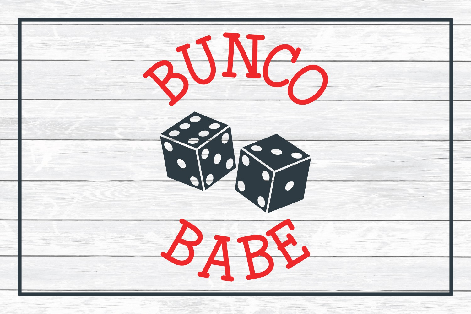 Bunco Babe, SVG Cut File for Crafters example image 3