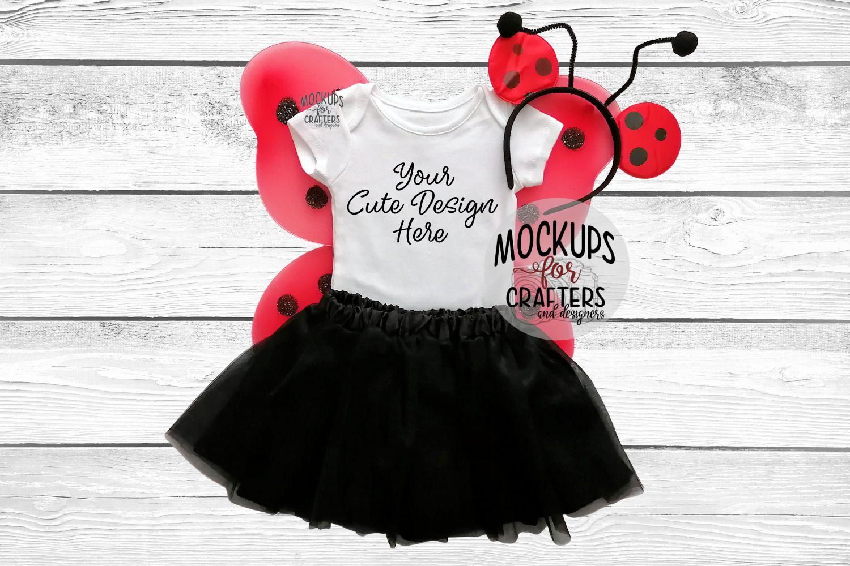 Baby Bodysuit, baby one piece - Ladybug theme example image 1