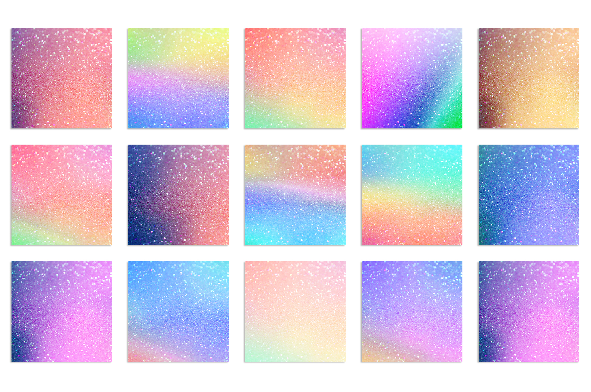 Gold Marble and Iridescent Glitter Textures BUNDLE example image 9