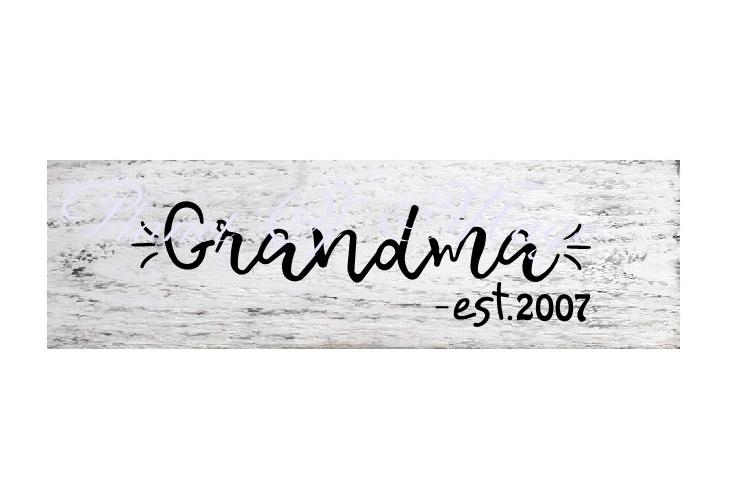 Grandma Est Svg, Grandma Svg, Grandmother Svg,Mother Day Svg example image 2