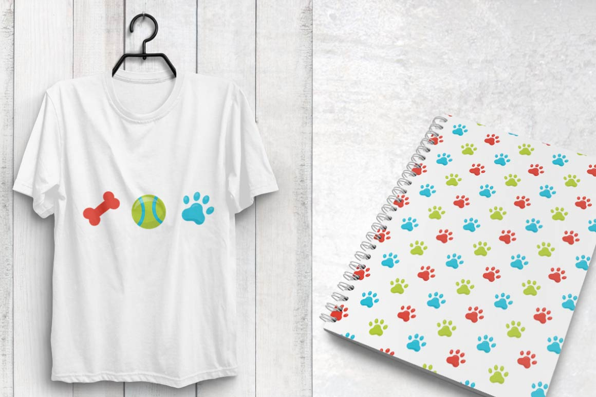 puppy-dog, digital papers example image 3