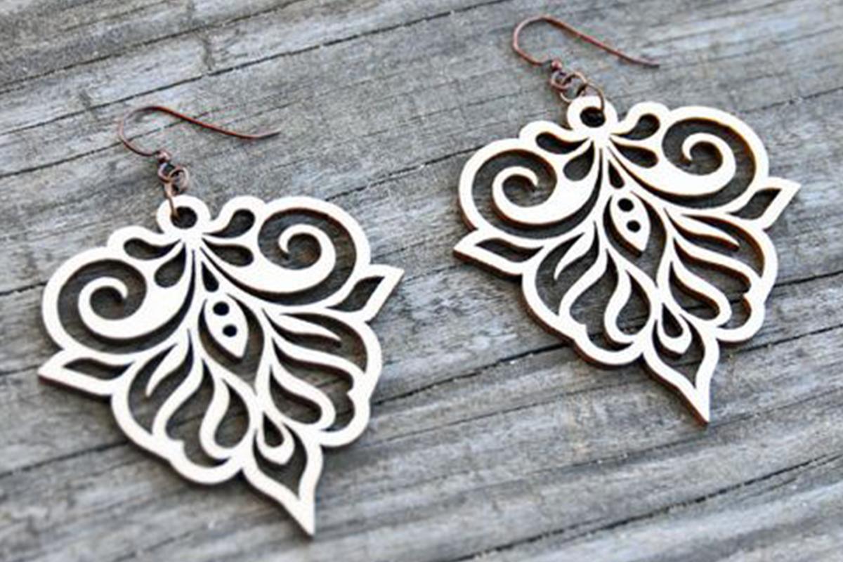 Wood Earrings SVG - Leather Earrings SVG - Earrings Bundle example image 4