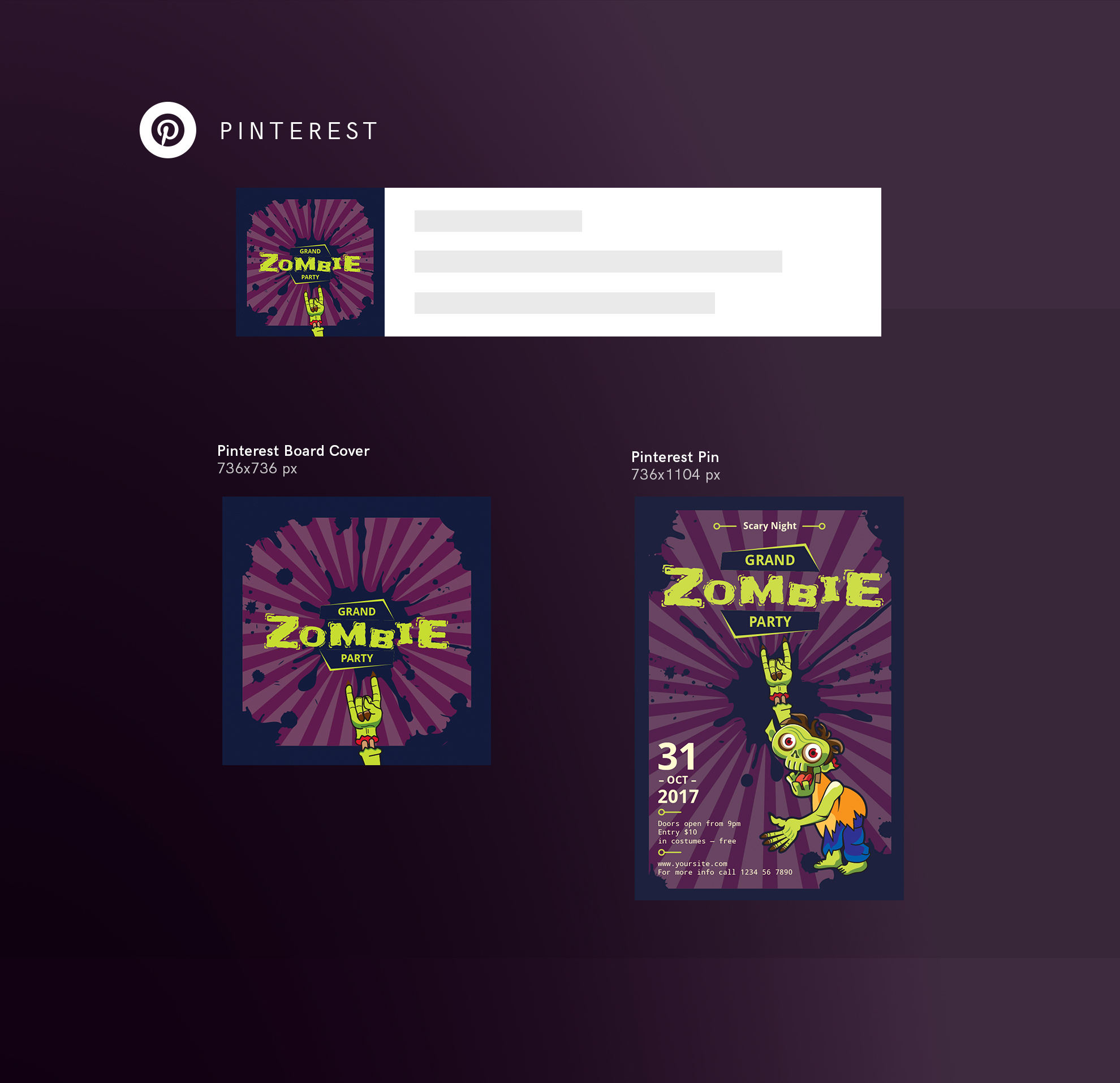 Zombie Party Design Templates Bundle example image 11