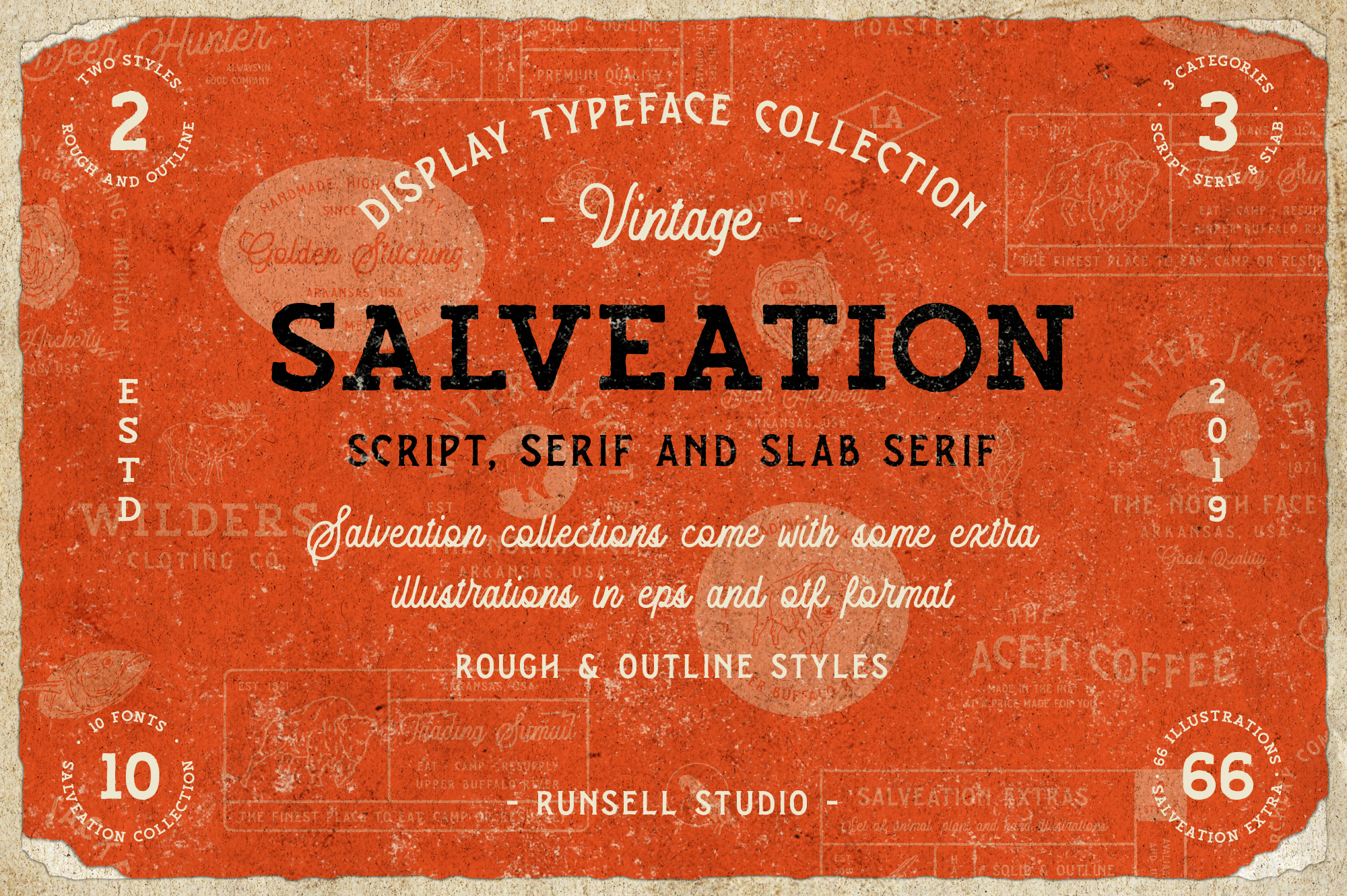 Salveation Font Collection example image 1