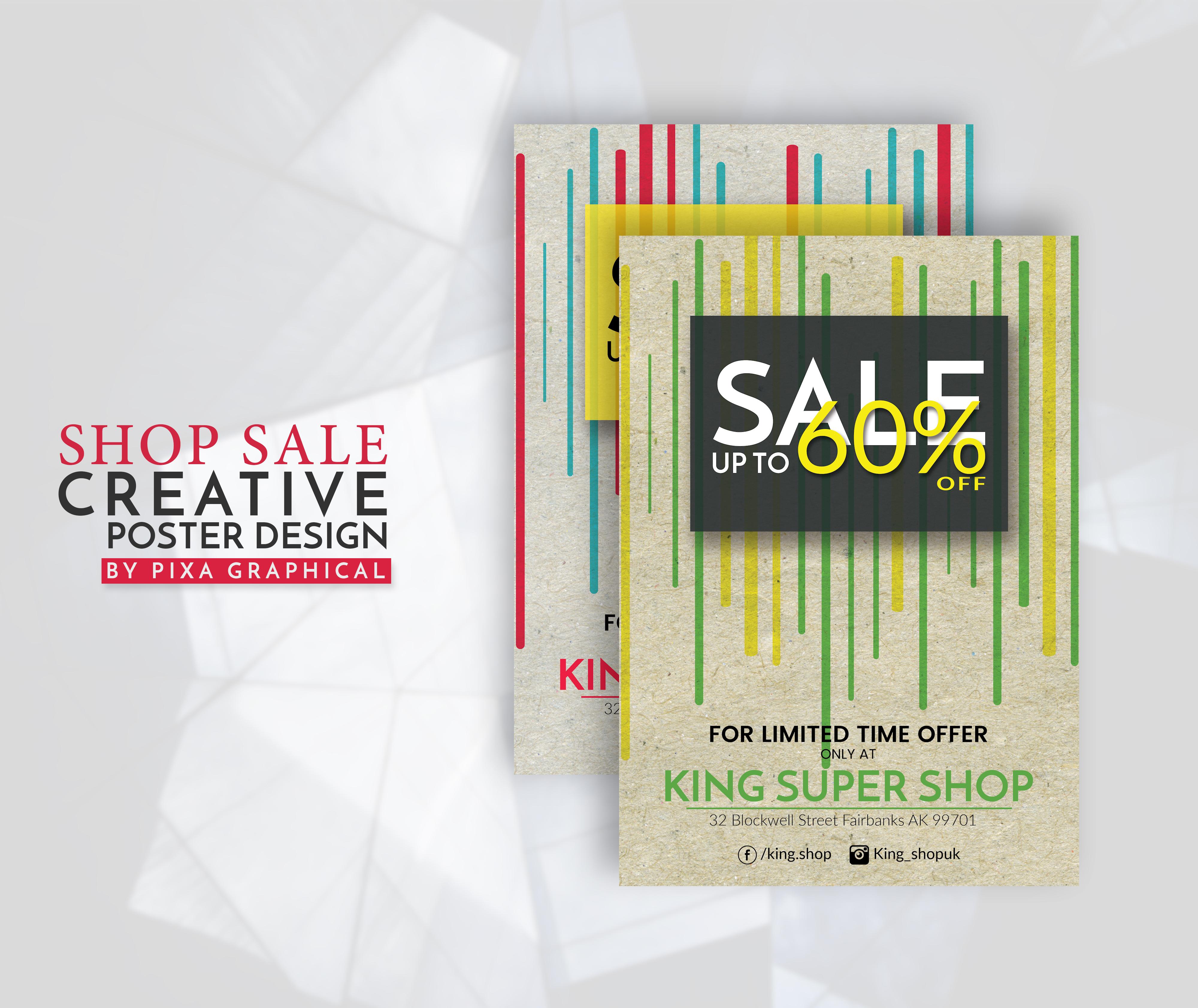 shop sale flyer design by pixa graphical design bundles