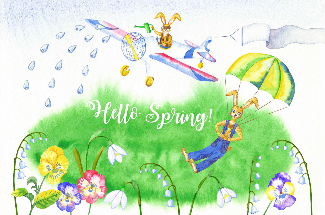 Welcome Spring! Rabbits Descent example image 7