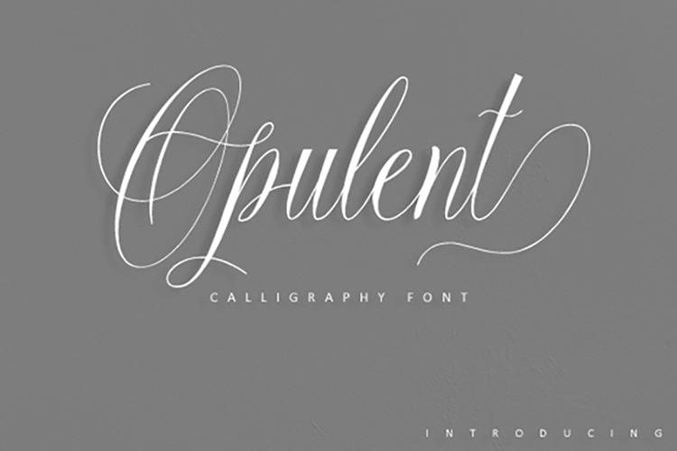 Opulent Script example image 1
