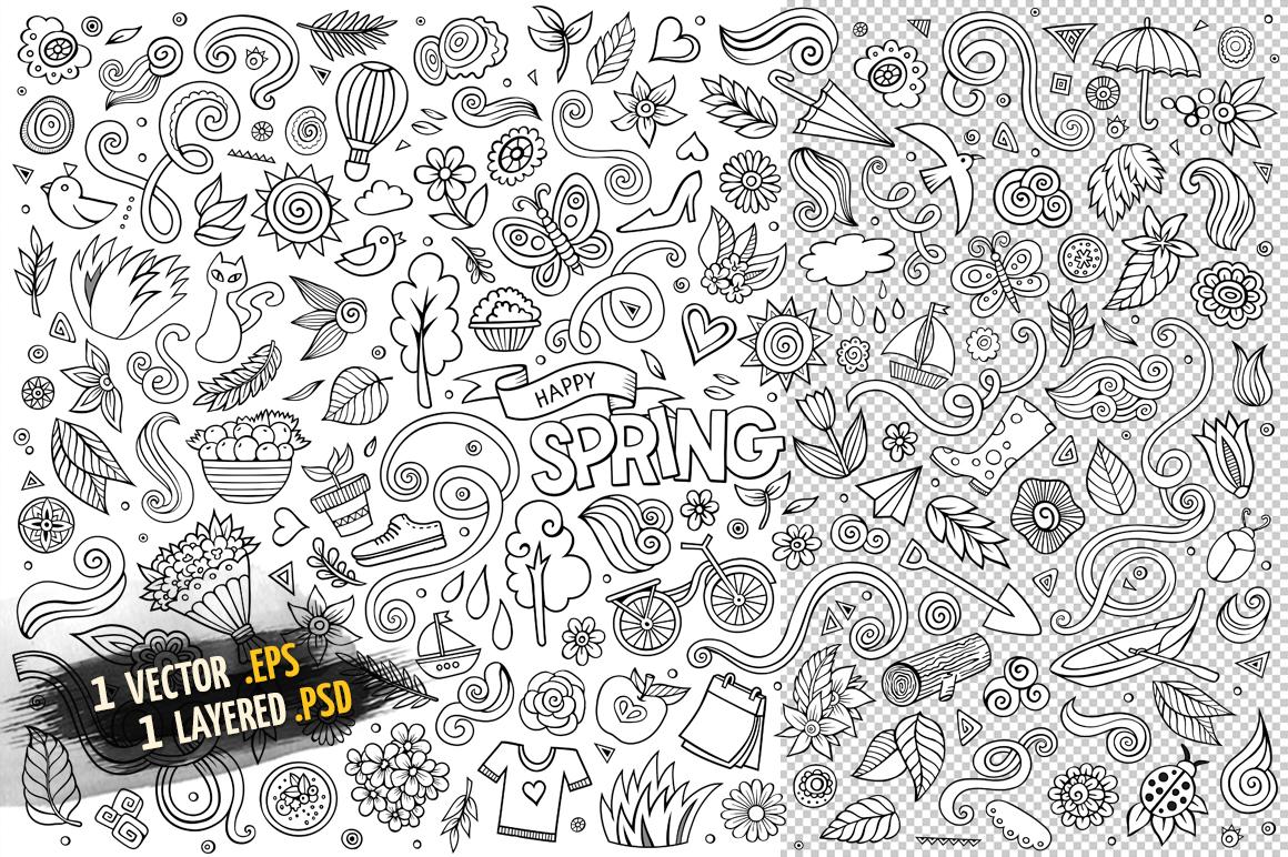 Spring Objects & Symbols Set example image 2