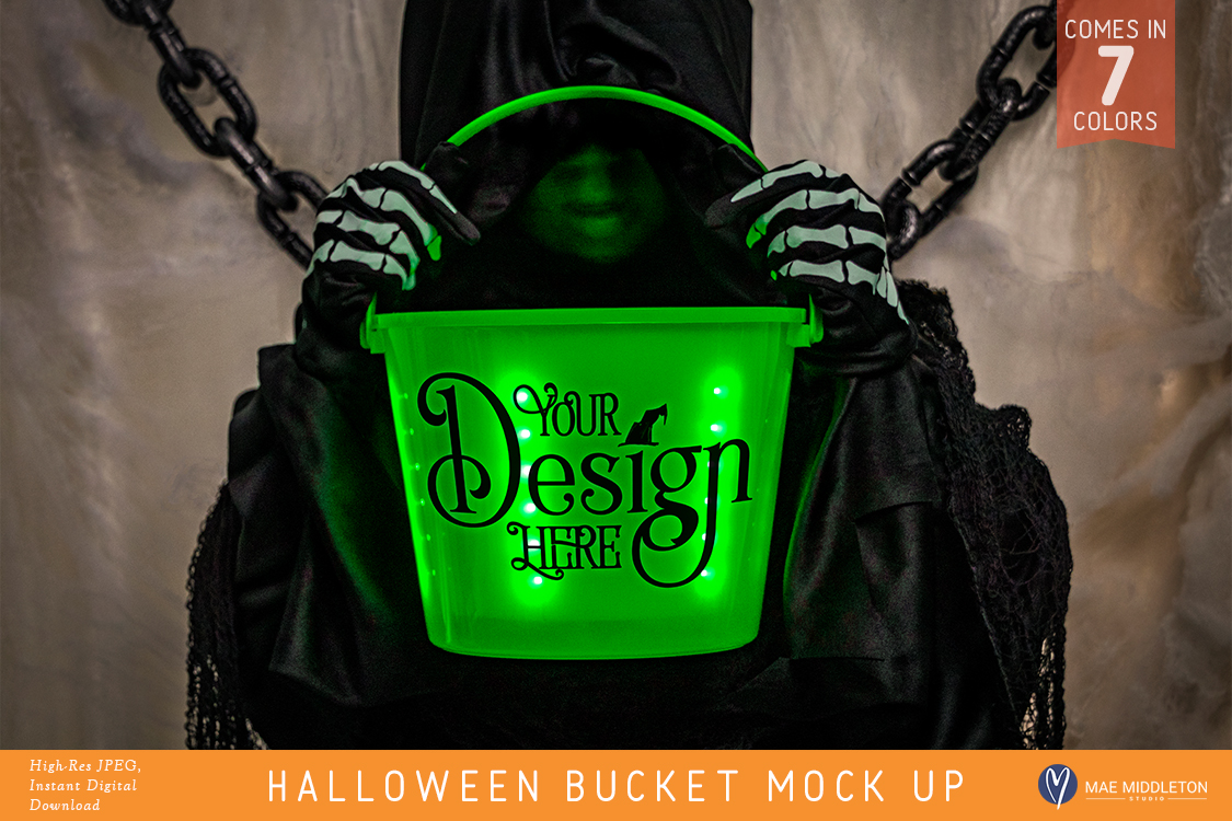 Halloween Buckets - styled photo, mock ups example image 1