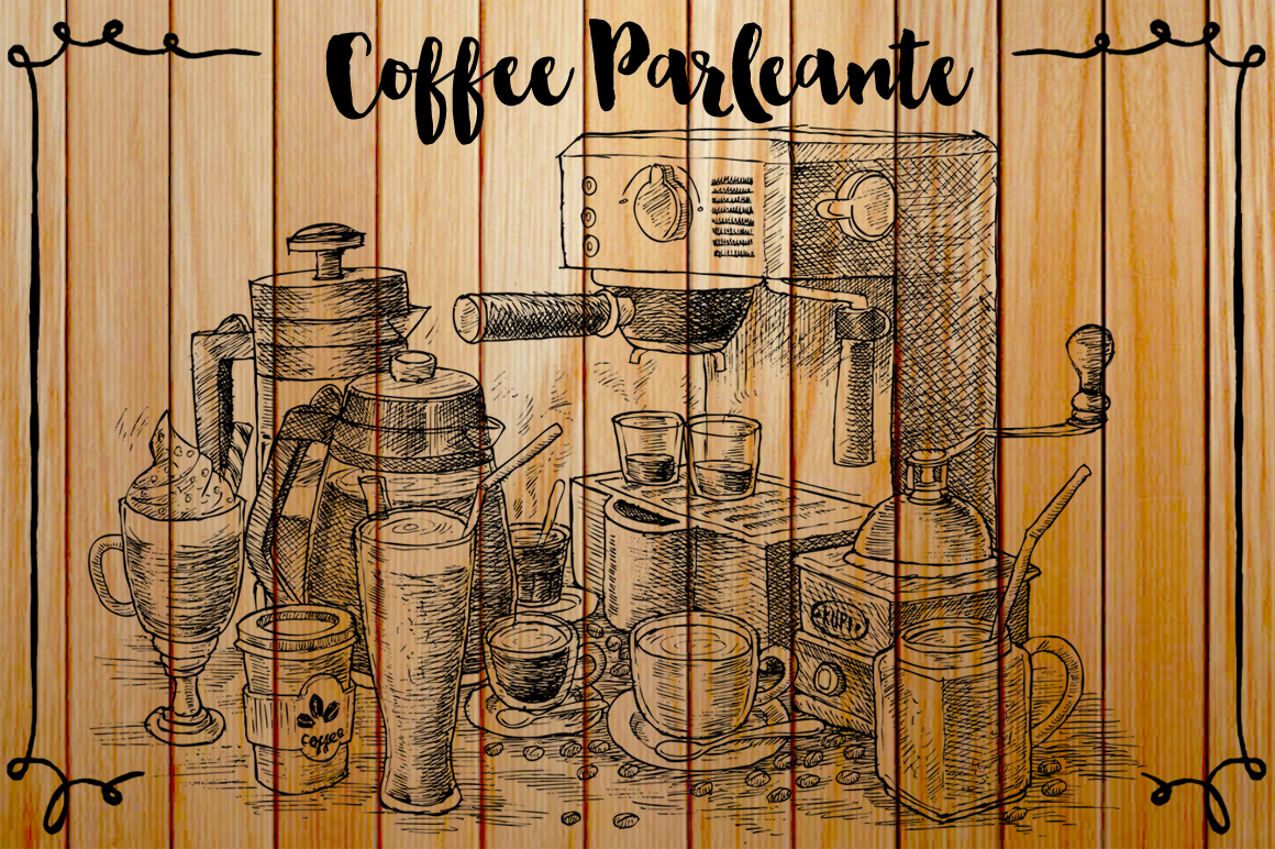 Watercolor Coffee Black Parleante example image 6