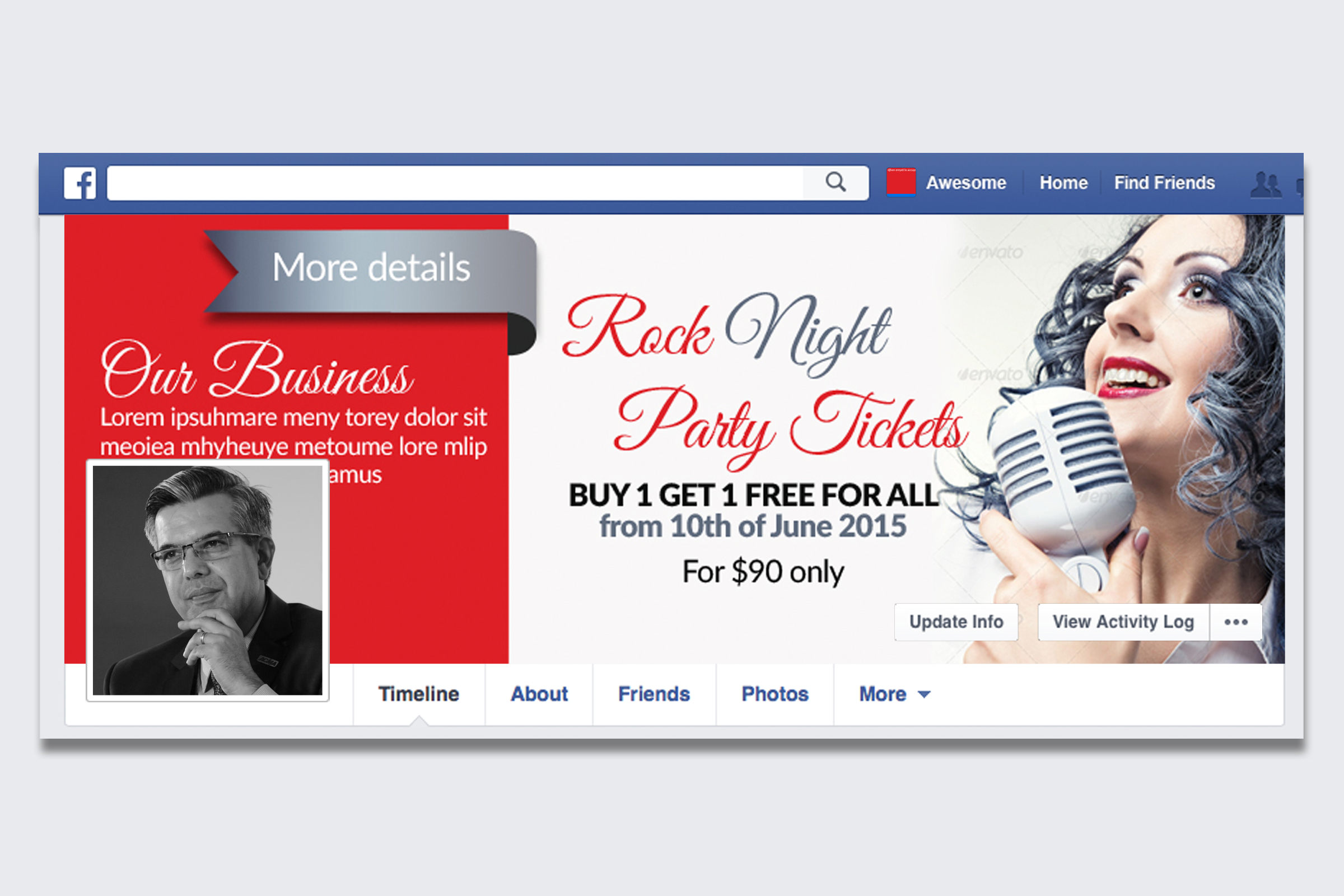 Music Concert Facebook Timeline Cover example image 1