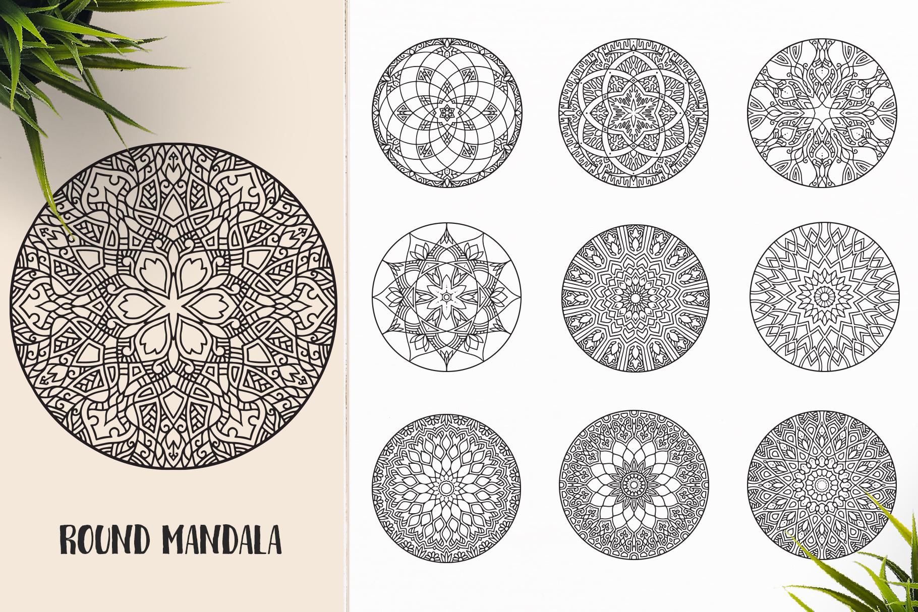 530 Vector Mandala Ornaments Bundle example image 27
