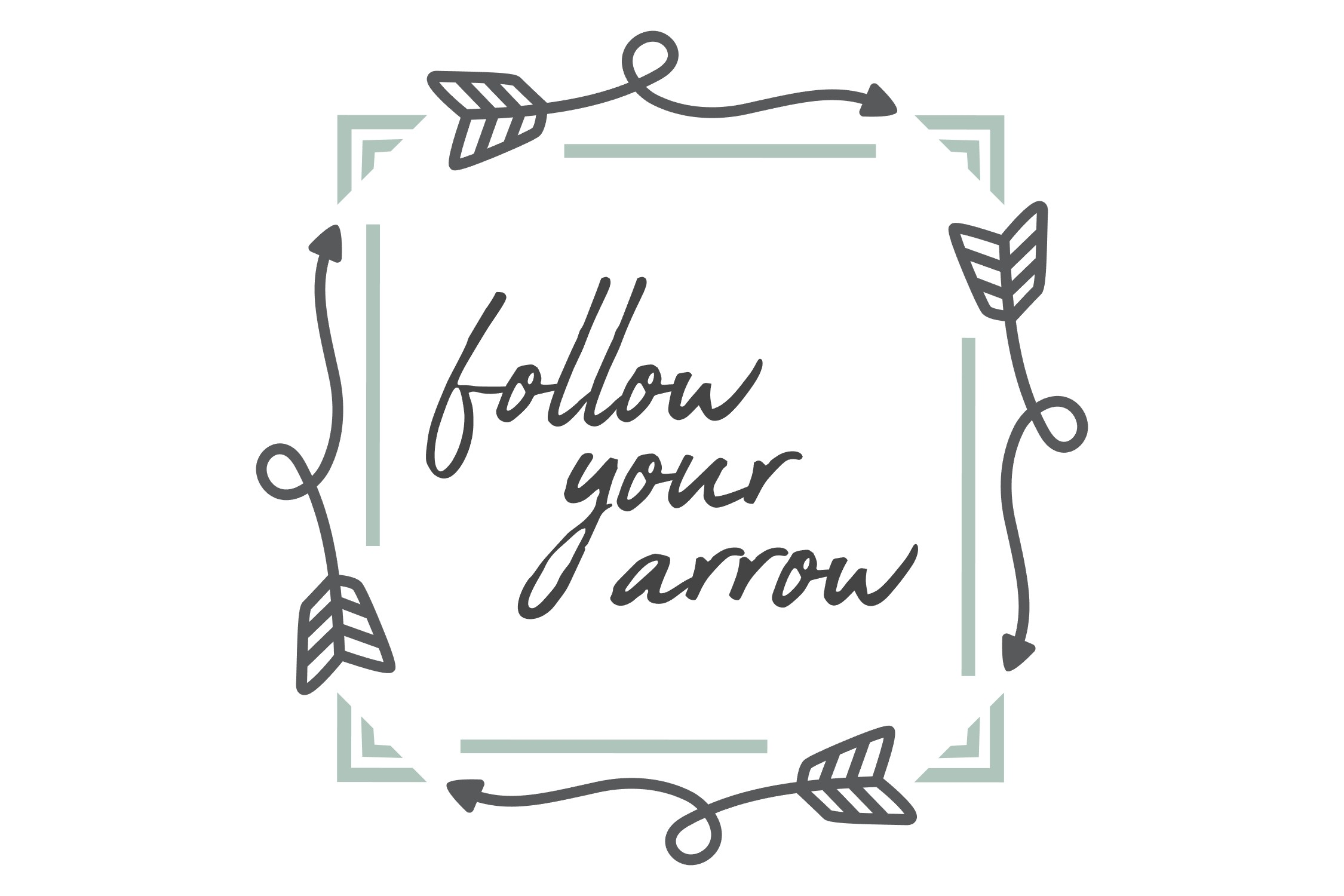 Follow Your Arrow - SVG PNG EPS example image 4