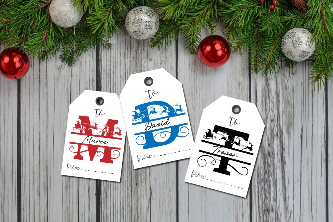 Christmas Alphabet Monogram SVG's example image 5