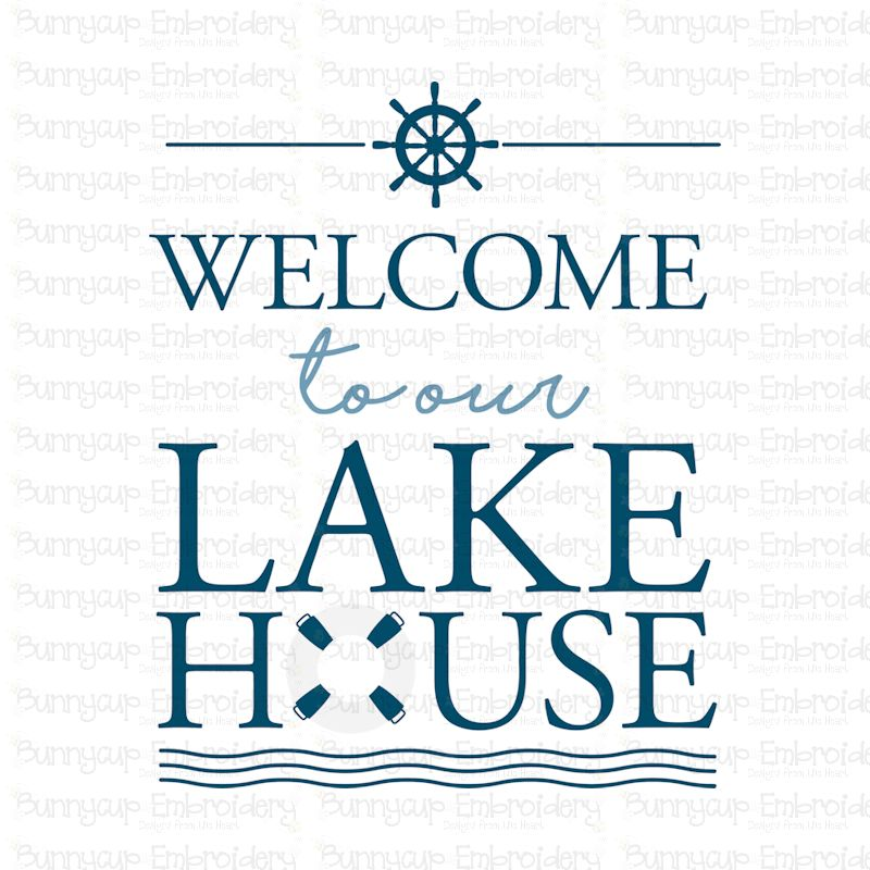 Welcome To Our Lake House - SVG, Clipart, Printable example image 2