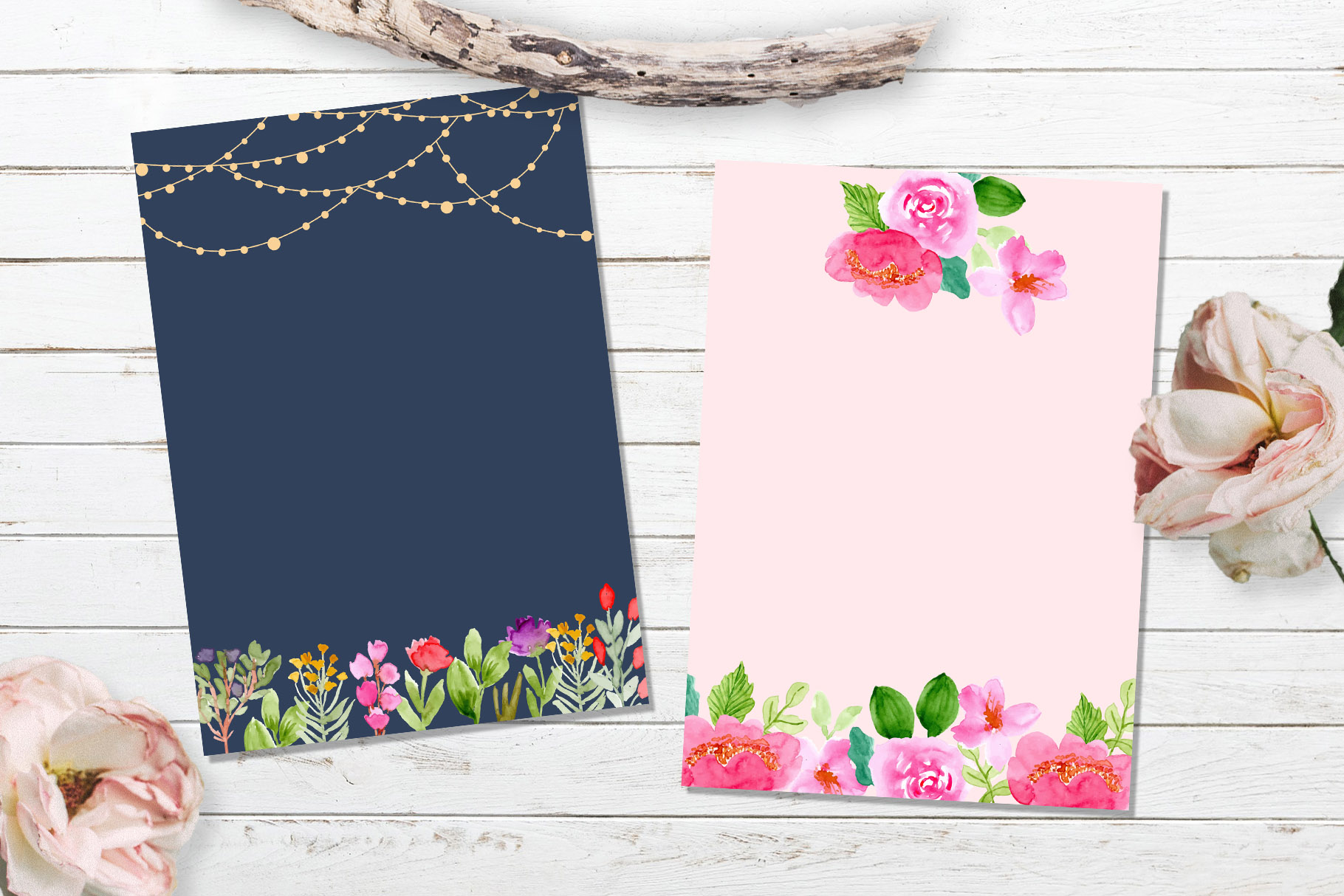 Floral Invitation Backgrounds Vol.3 example image 6