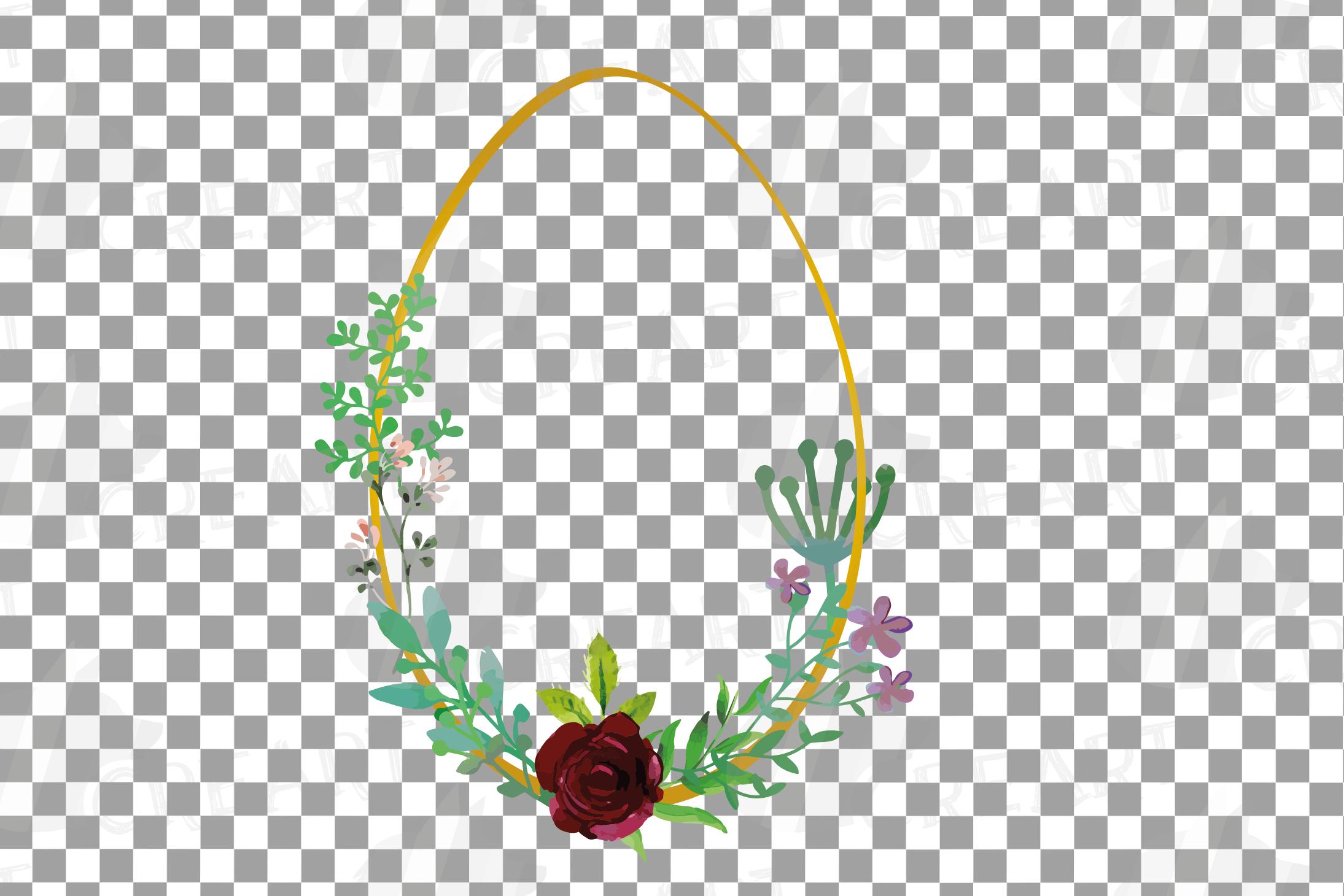 Easter golden watercolor floral frames, floral frames example image 4