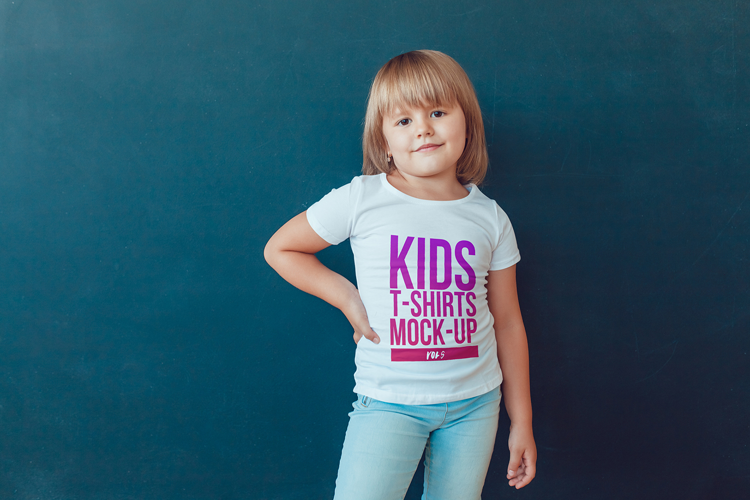 Kids T-Shirt Mock-Up Vol 5 example image 15
