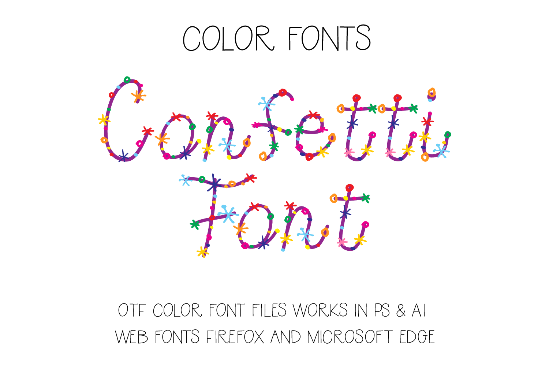 Confetti Font example image 1