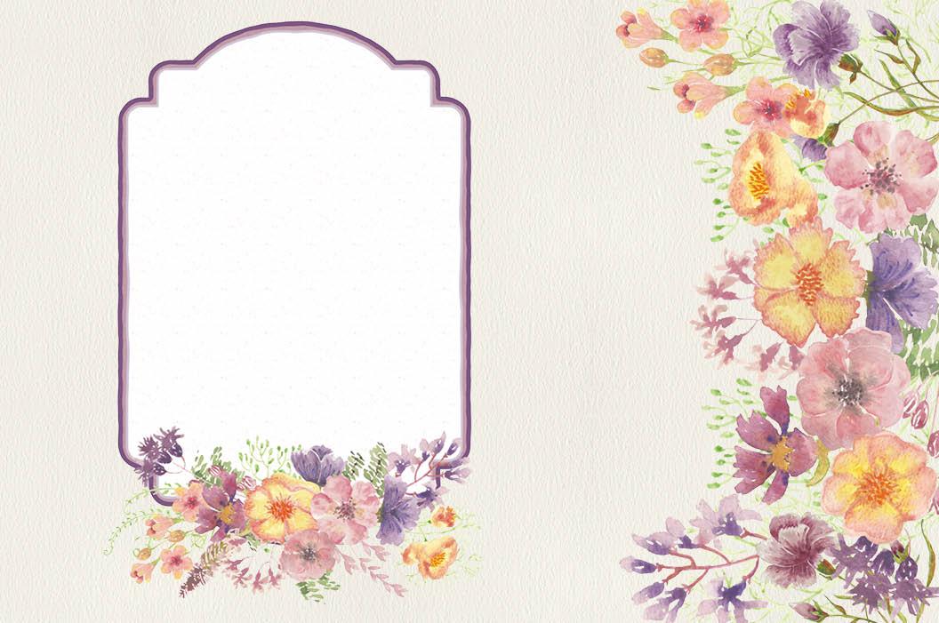Watercolor clip art bundle: wild flowers example image 7