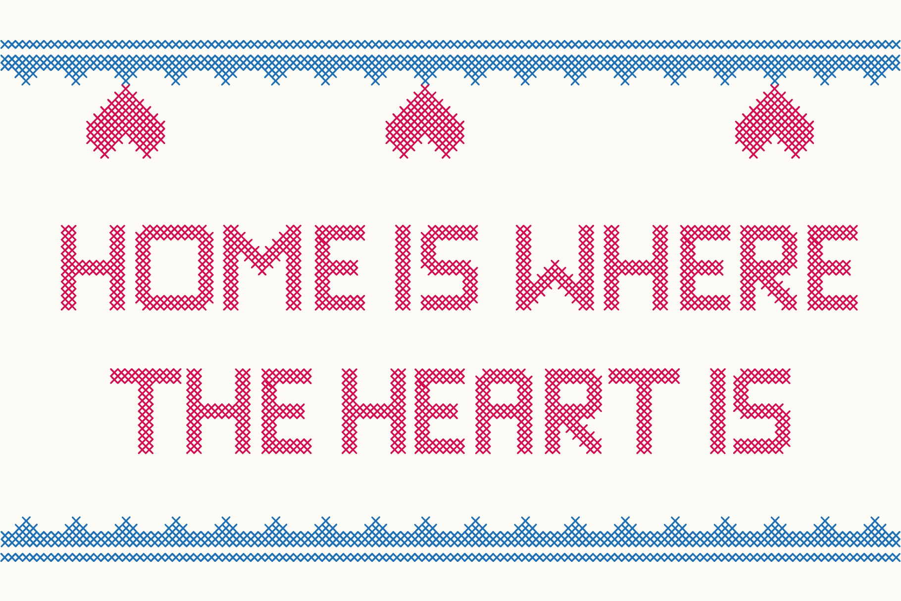 Stitching Love a cross-stitch font example image 5