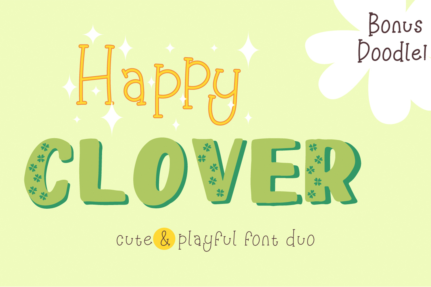 Happy Clover Font Duo example image 1