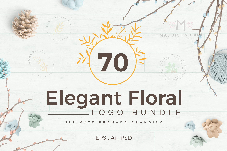 70 Elegant Floral Logo Bundle example image 1