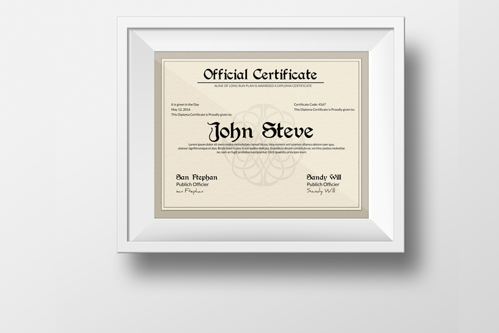 Diploma Certificate Template example image 2