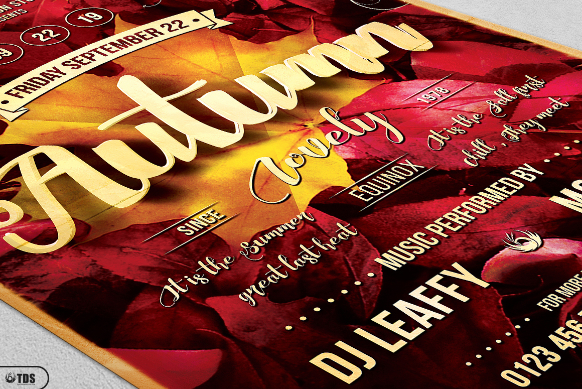 Autumn Equinox Flyer Template V1 example image 6