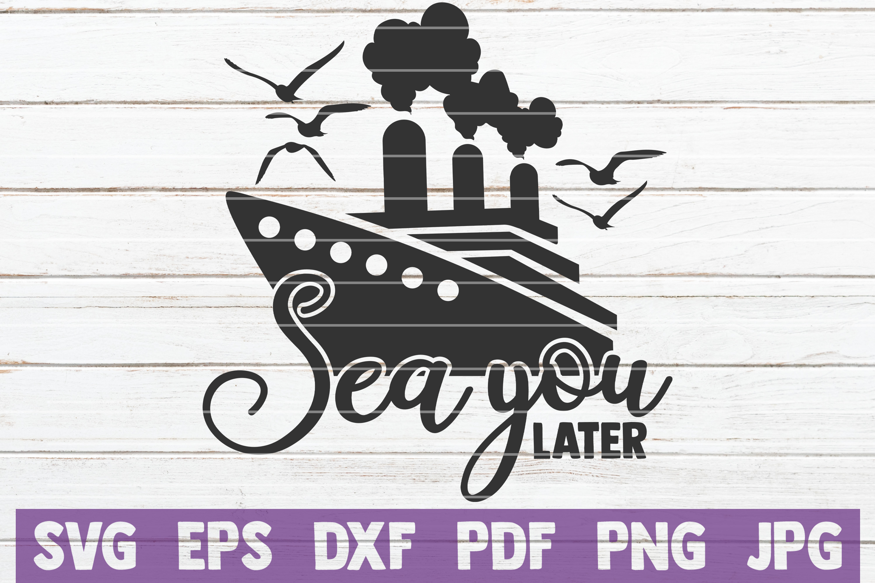 Sea You Later SVG cut file example image 1