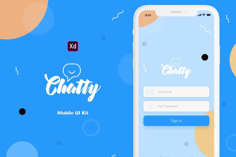 Chatty Mobile UI Kit example image 1