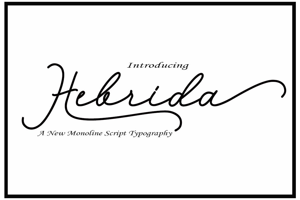 Hebrida Script example image 1