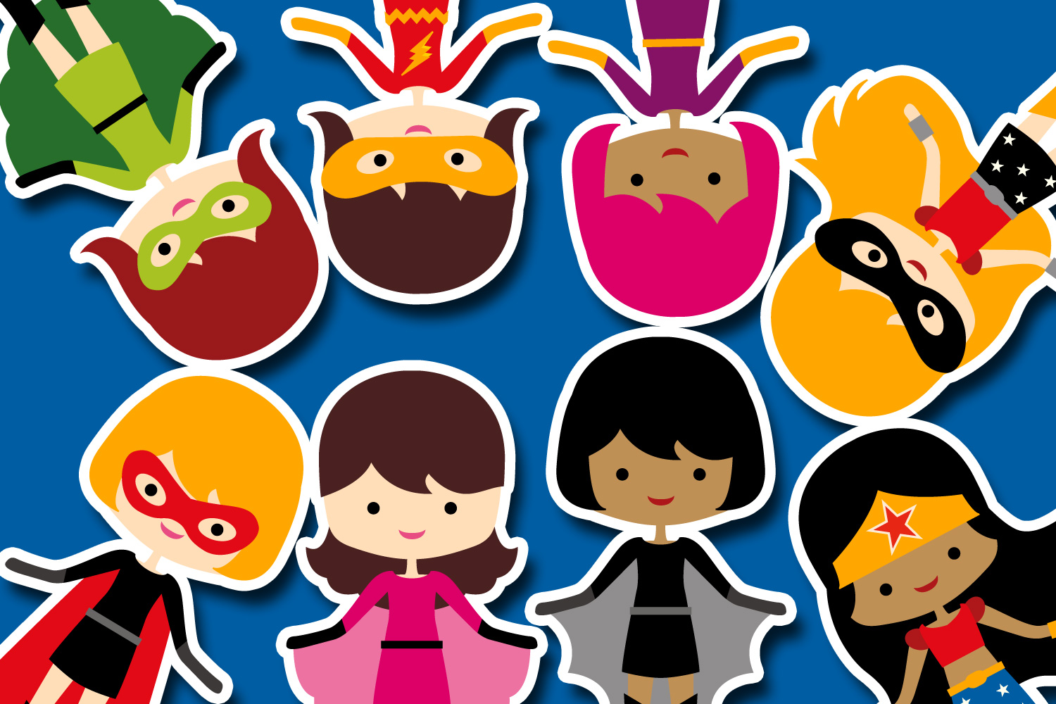 More girl superhero clipart graphics / superheroes girls example image 2