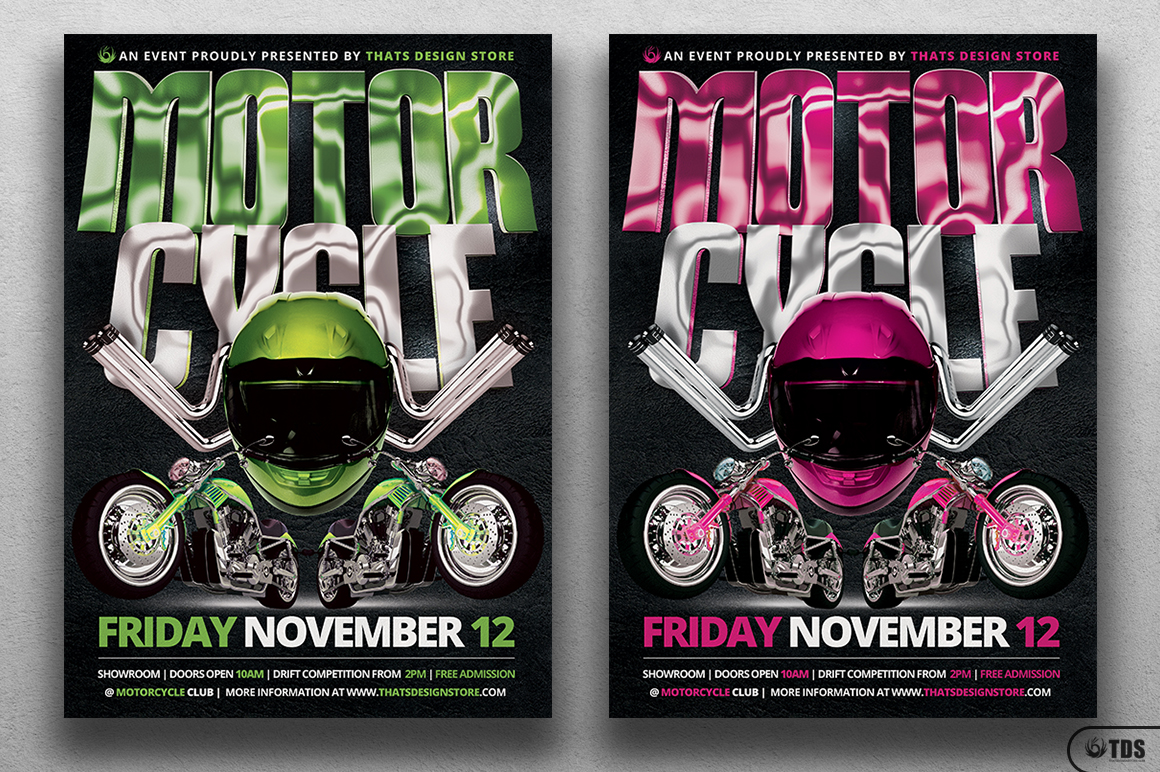 Motorcycle Flyer Template example image 3