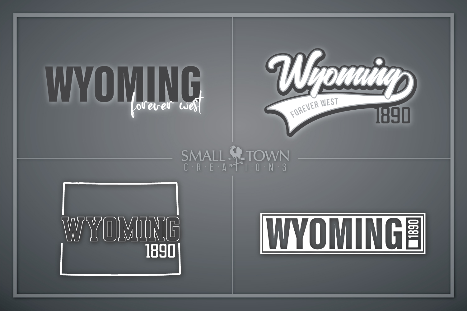 Wyoming, Forever West - slogan, Logo, PRINT, CUT & DESIGN example image 1