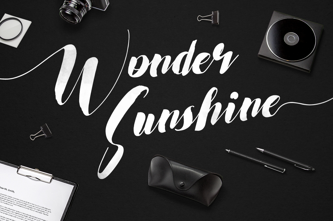 Wonder Sunshine Typeface example image 1