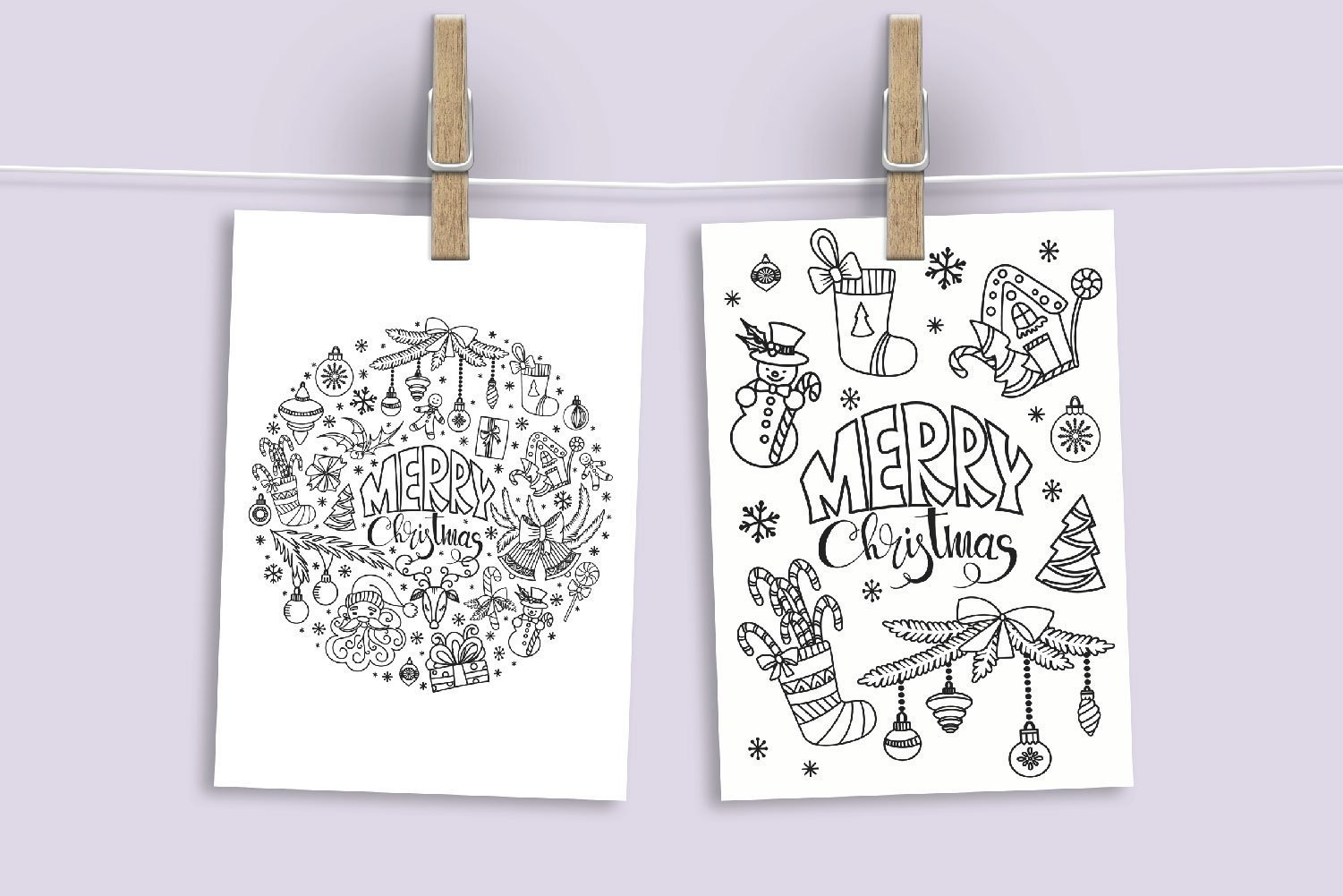 Christmas Doodles SVG example image 2