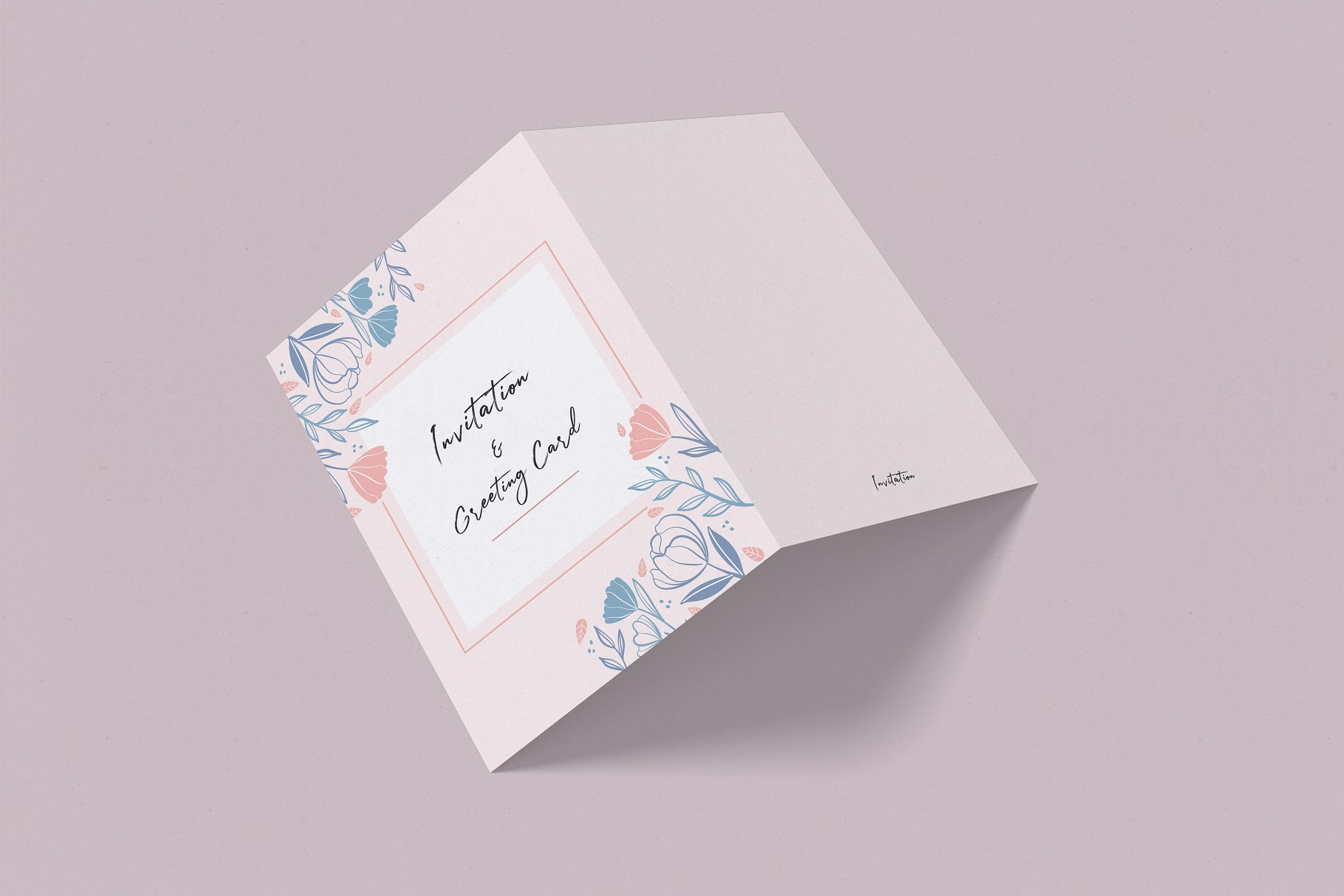 Invitation & Greeting Card Mockup example image 6