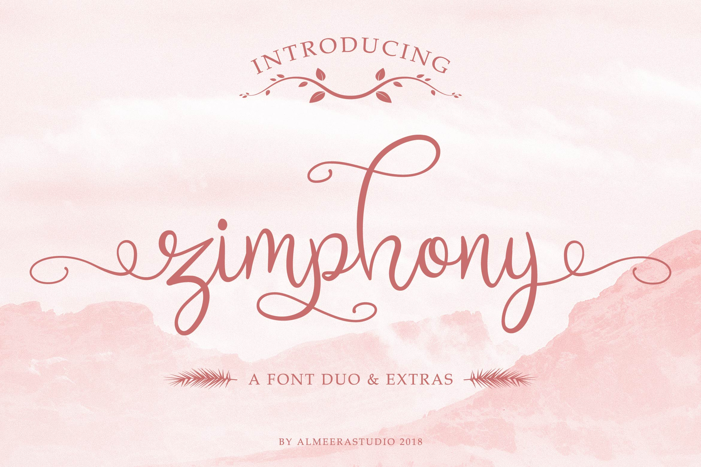 Zimphony Font Duo example image 1
