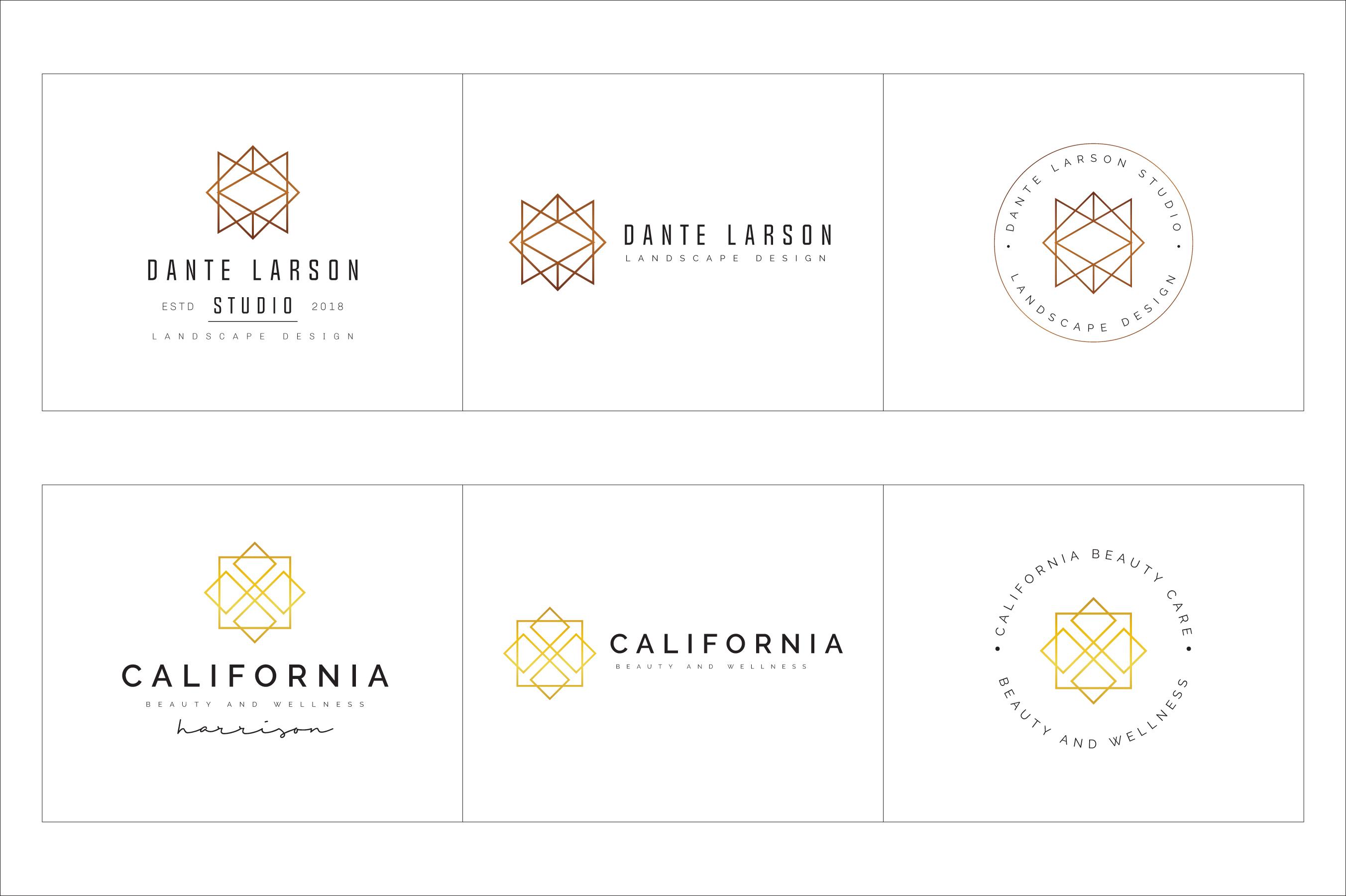 300 Geometric Premade Logo Bundle example image 13