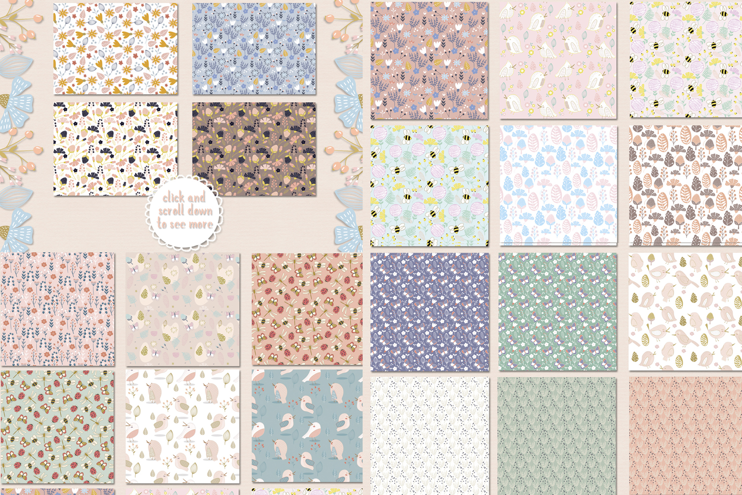Floral patterns pack example image 8