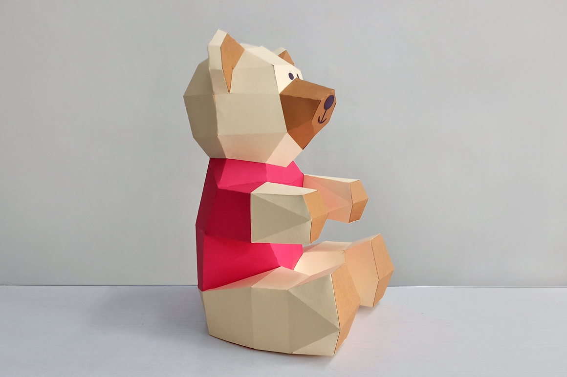 DIY Teddy bear,Papercraft Teddy bear,Paper Bear,Svg files example image 5