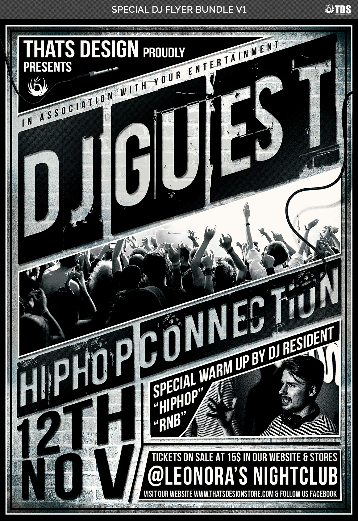 Special DJ Flyer Bundle V1 example image 7