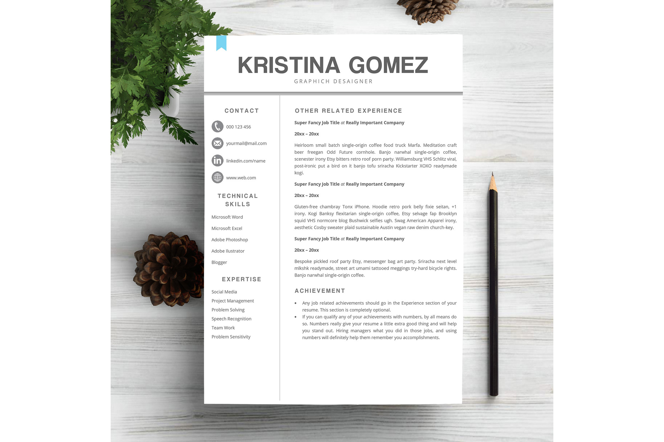Feminime Resume Template example image 2