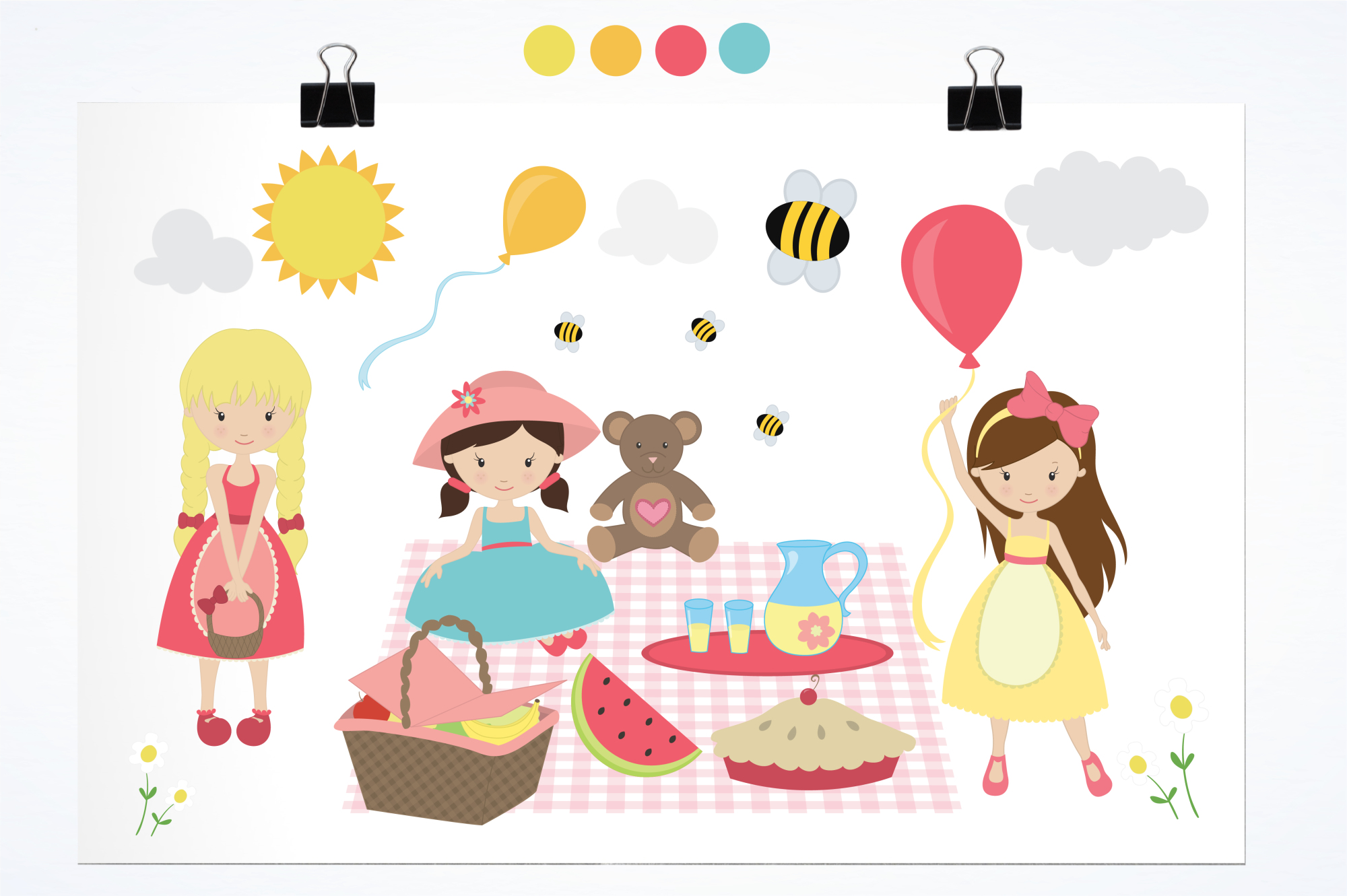 Summer Picnic graphics and illustrations example image 2