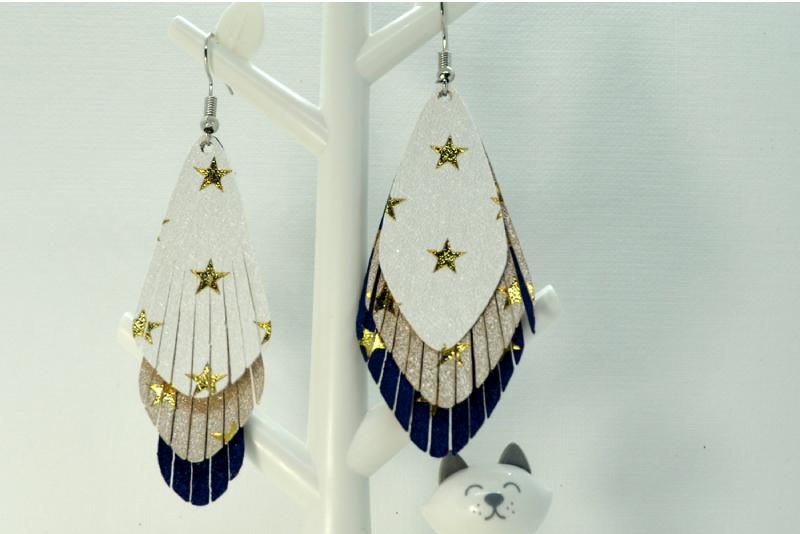 Earrings template SVG, DIY earrings template example image 3