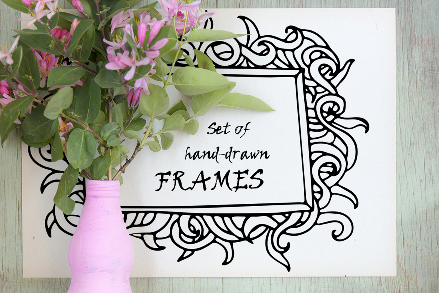 Hand-drawn frames collection example image 1