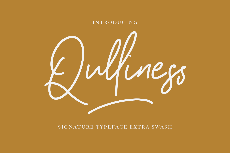 Qulliness Signature Font example image 6