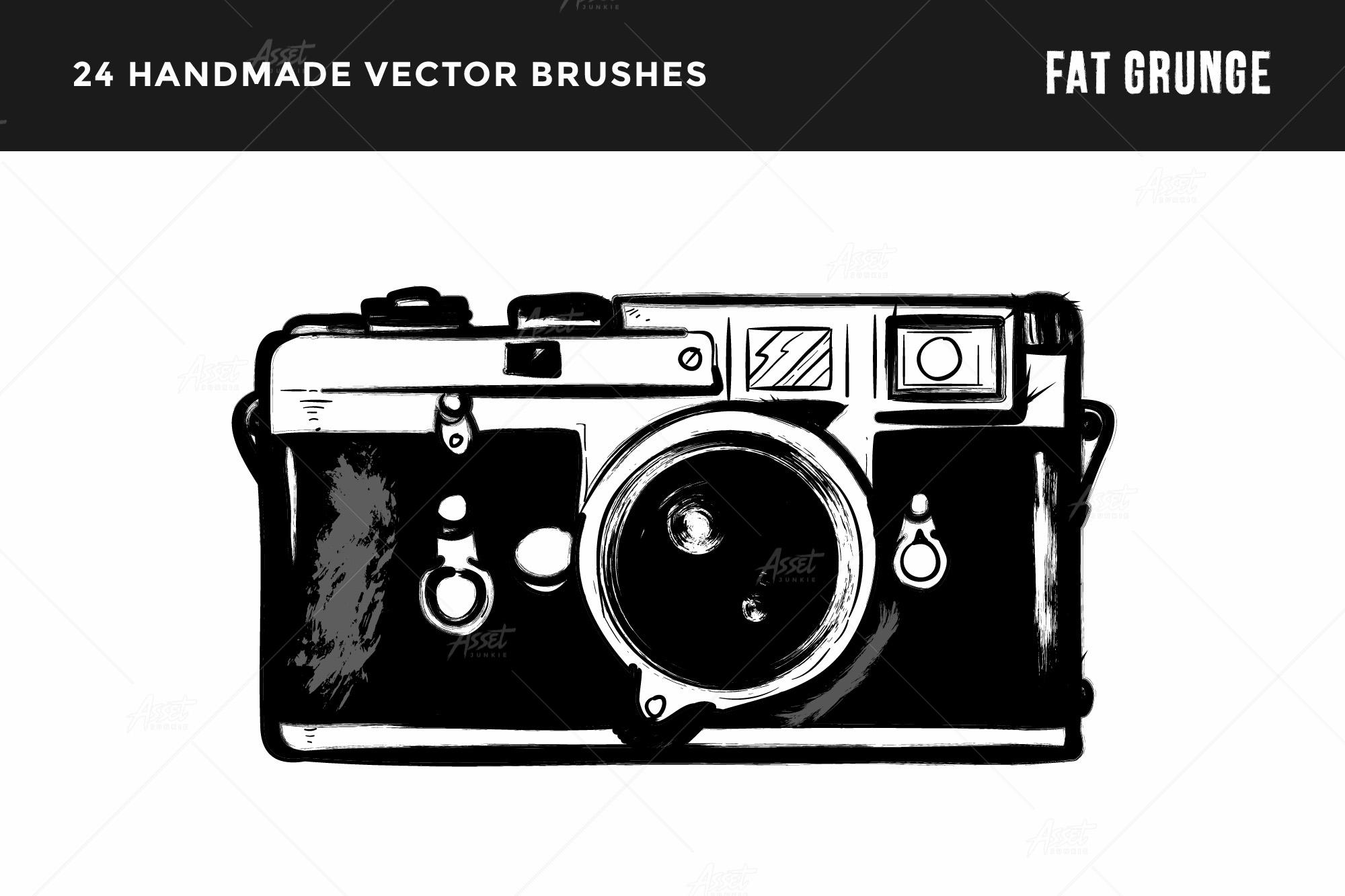 Fat Grunge – Illustrator Brush Pack example image 5